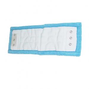 Frange microfibre bleue œillet + poche