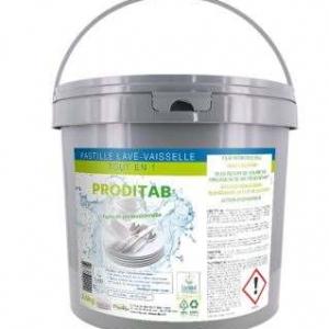 Pastille lave-vaisselle tout en 1 | seau de 150 pastilles écolabel | PRODITAB