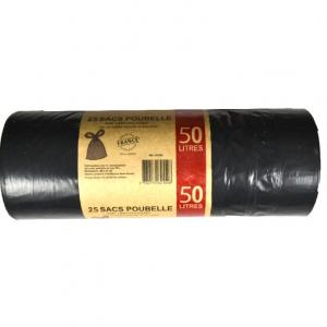 SACS POUBELLES 50L noir   100 sacs 30 microns