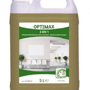Détergent désinfectant sols et surfaces 5l 3 en 1   OPTIMAX   ideal pour sol sport