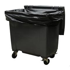 HOUSSE CONTENEURS 750L noir   x100 sacs  20 microns