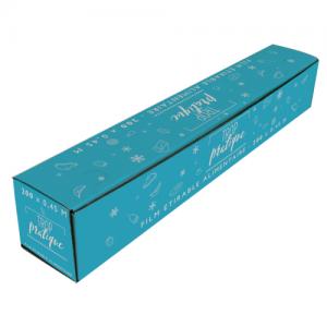 Film étirable alimentaire en boîte distributrice | 300 x 0,45 m