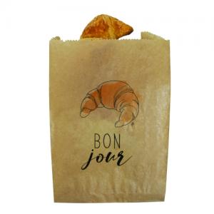 Sac croissant kraft brun  N°5 18+7,5×28 cm colis de 1000